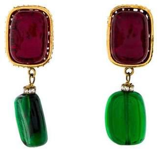 Chanel Gripoix Clip-On Earrings