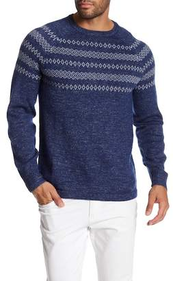 Save Khaki Fair Isle Crew Neck Sweater