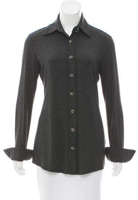 Ramy Brook Long Sleeve Button-Up Top