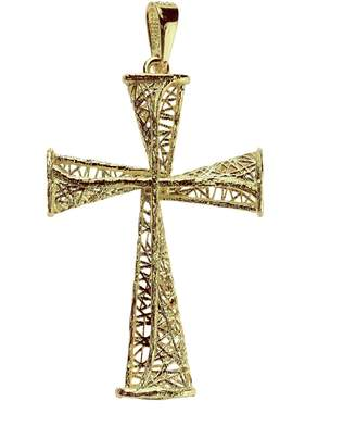 ADI Paz Openwork Cross Pendant, 14K Gold