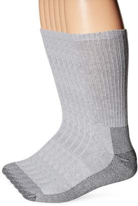Fruit of the Loom Men's 6 Pack Work Gear Big and Tall Heavy Duty Crew Socks