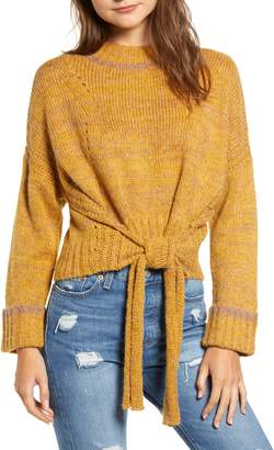 Moon River Tie Hem Crop Sweater