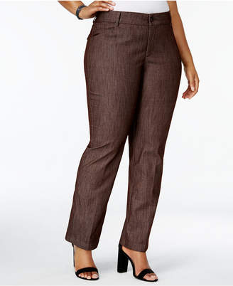 Lee Platinum Plus Size Total Freedom Madelyn Denim Trousers