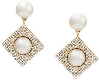 Celine Pre-Owned 1980/1990's geometric pearl embellished earrings