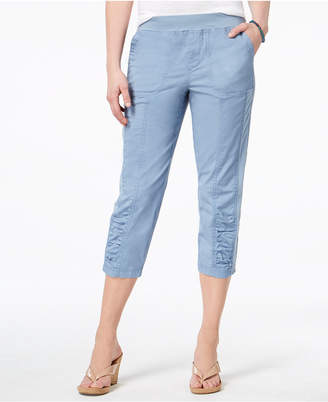 Style&Co. Style & Co Ruched Capri Pants, Created for Macy's
