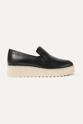Vince Zeta Leather Platform Loafers - Black
