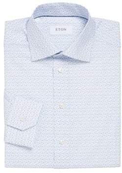 Eton Slim-Fit Floral Printed Dress Shirt