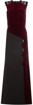 Roland Mouret Velvet Gown with Draped Back