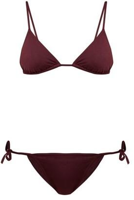 Eres Mouna And Malou Triangle Bikini - Womens - Burgundy