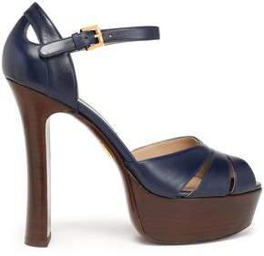 Michael Kors Cutout Leather Platform Sandals