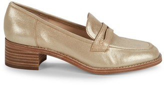 Nine West Kimmy Metallic Leather Penny Loafers