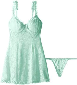 Cinema Etoile Women's Mona Soft Cup Lace Baby Doll