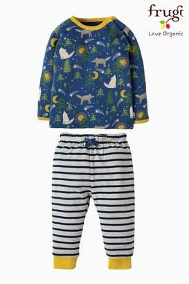 Next Boys Frugi Blue Stargaze Moonlit Night Pyjama
