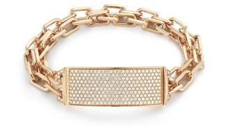 Walters Faith Carrington 18K All Diamond Id Bar And Double Row Chain Link Bracelet