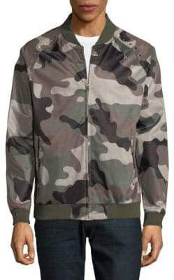 Standard Issue NYC Camo Studded Bomber Jacket