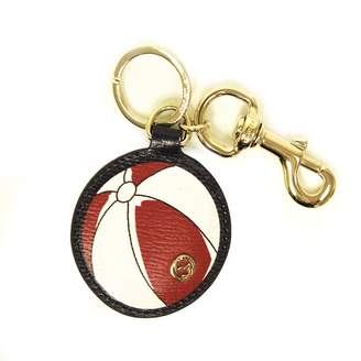 Gucci 338797 Leather Beach Ball Key Chain Ring