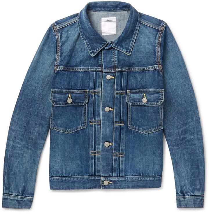 Slim-Fit Washed-Denim Jacket