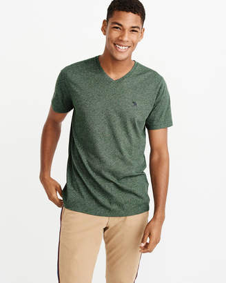 Abercrombie & Fitch Textured Icon V-Neck Tee