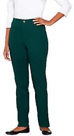 "Denim & Co. How Classic"" 5-Pocket StraightLeg Jeans"