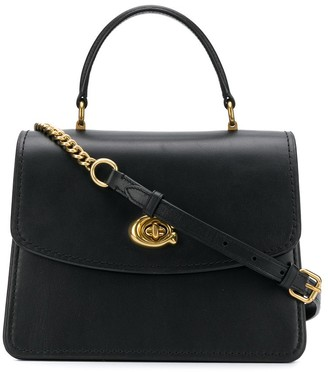 Coach twist-lock satchel bag