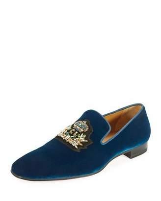 Christian Louboutin Dandelion Men's Velvet Loafer