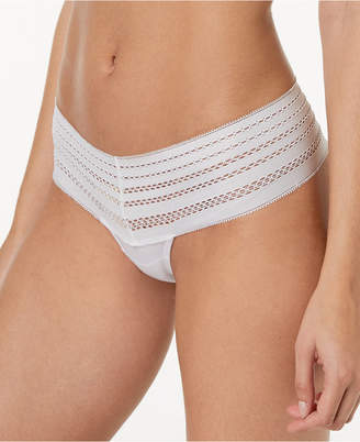 DKNY Classic Cotton Embroidered-Waist Thong DK5025