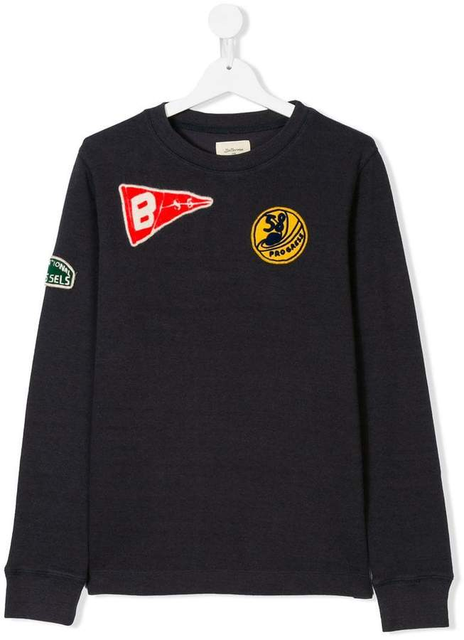 Bellerose Kids TEEN embroidered patch sweater
