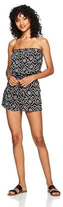 Angie Women's Strapless Printed Romper