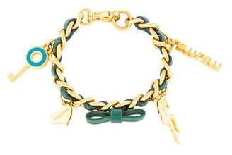Miu Miu Patent Leather Charm Bracelet