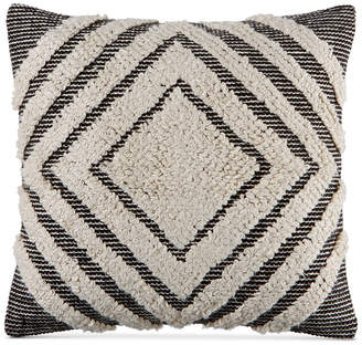 """Martha Stewart Collection CLOSEOUT! Collection Nesting Diamonds 20"""" Square Decorative Pillow, Created for Macy's"""