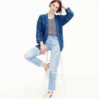 J.Crew Point Sur high-rise retro straight jean in light wash