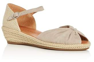 Kenneth Cole Gentle Souls by Gentle Souls Women's Lucille Suede Demi Wedge Espadrille Sandals