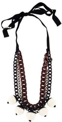 Marni Fabric Bead Strand Necklace