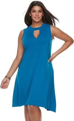 JLO by Jennifer Lopez Plus Size Cut Out Dress