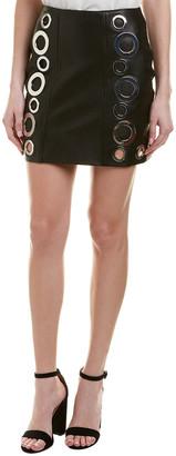 KENDALL + KYLIE Leather Grommet Mini Skirt