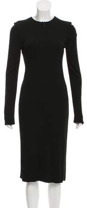 Halston Long Sleeve Midi Dress
