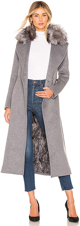 Adelaida Coat With Fur Collar