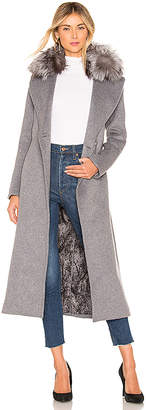 Soia & Kyo Adelaida Coat With Fur Collar