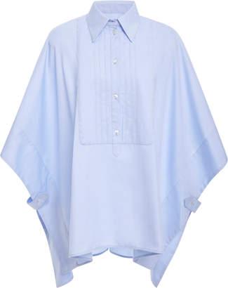 Victoria Beckham Victoria Cape-Effect Cotton-Poplin Shirt