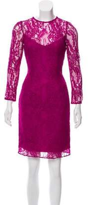Carmen Marc Valvo Lace Mini Dress