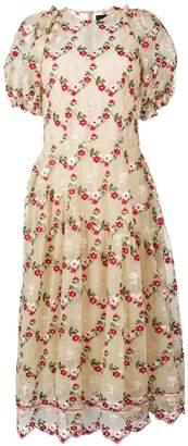 Simone Rocha floral full midi dress