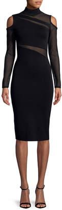 Rachel Roy Cold-Shoulder Fishnet Dress