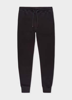 Paul Smith Men's Black Cotton Sweatpants With Reflective Patch