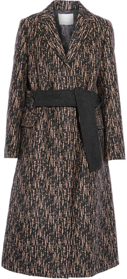 3.1 Phillip Lim3.1 Phillip Lim Slim printed wool-blend coat