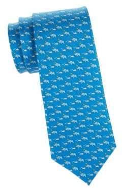 Salvatore Ferragamo Elephant& Mouse Tie