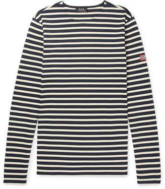 A.P.C. Matt Striped Cotton-Jersey T-Shirt