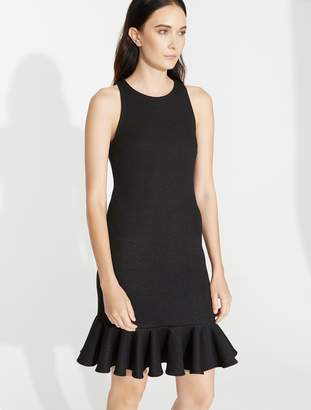 Halston Fitted Shimmer Knit Dress