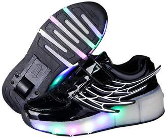 Heelys Dolwins Girls Boys Glint Light Up Wheels Kids LED Roller Shoes Skates Sneakers