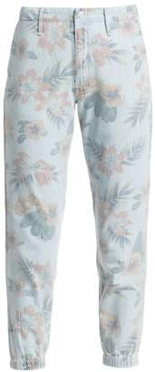 Mother Misfit Cropped Floral Jeans