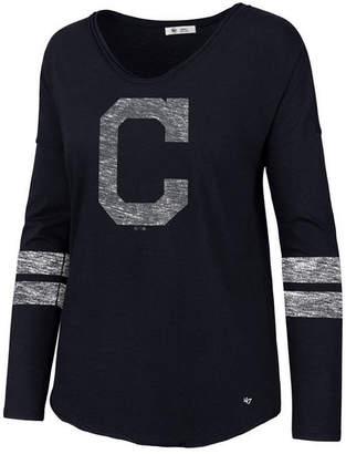 '47 Women's Cleveland Indians Court Side Long Sleeve T-Shirt
